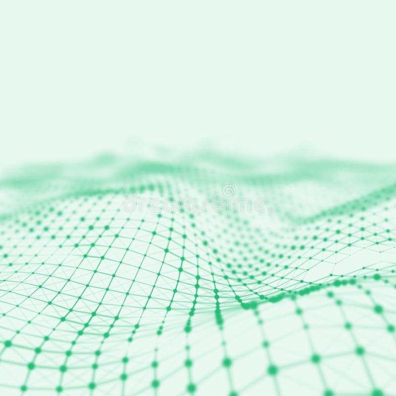 Abstrakt låg poly bakgrund Polygonal bakgrund för Plexus För Plexus poly landskapbakgrund lågt plexus för wireframe 3D royaltyfri fotografi