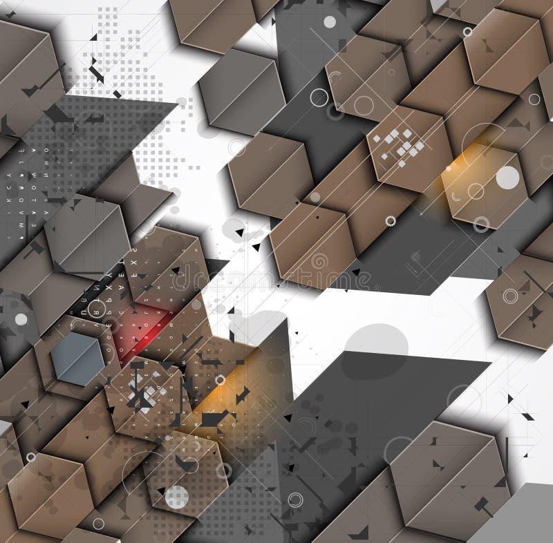 Abstrakt lösning för internetdatateknikaffär vektor illustrationer