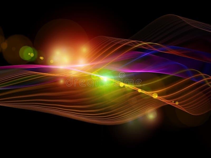Abstrakt lampor vektor illustrationer
