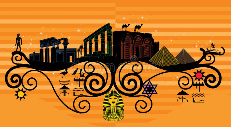 Abstrakt land, symbolism av landet royaltyfri bild