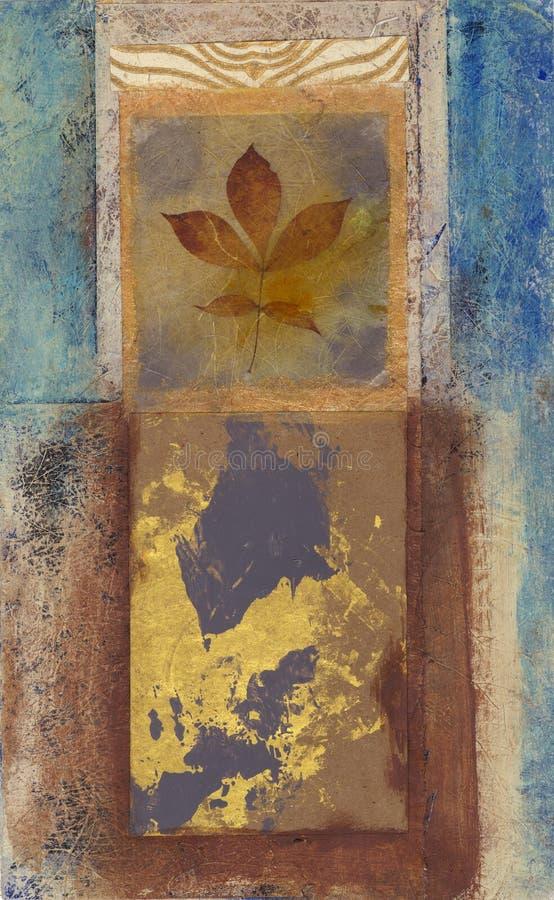 abstrakt leafmålning stock illustrationer