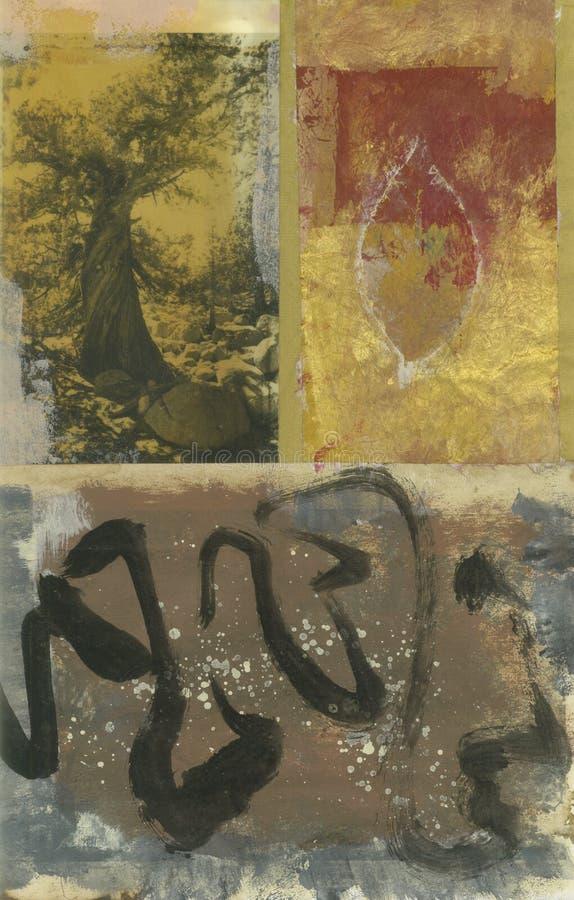 abstrakt leaftree royaltyfri illustrationer