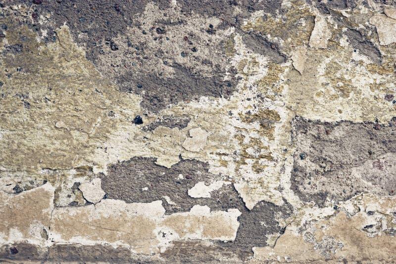 Abstrakt leeren Sie verlassenes städtisches Außenfragment, alte verwitterte Betonmauer stockfotografie