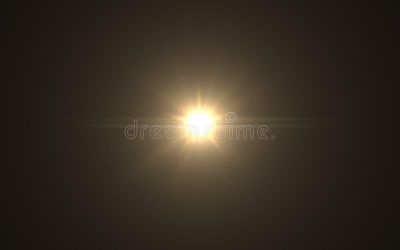 Abstrakt Lens signalljus som är dammig med svart bakgrund vektor illustrationer