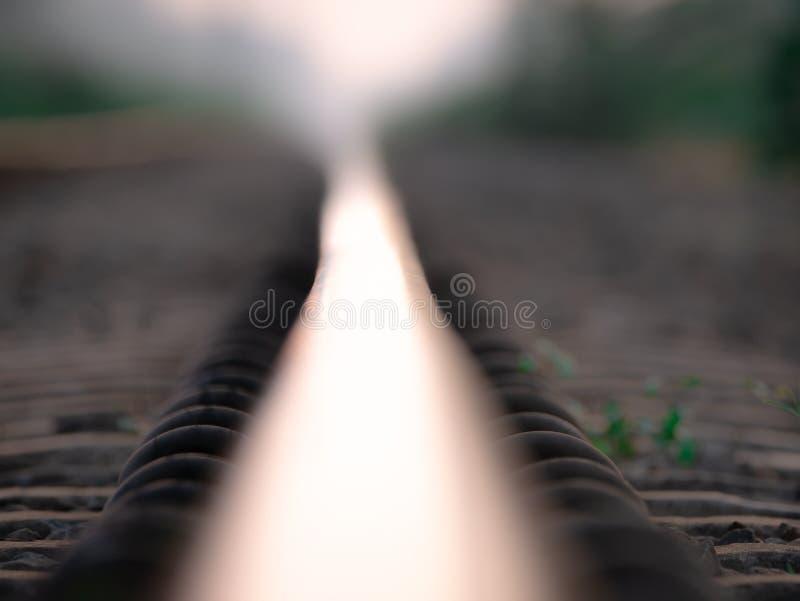 Abstrakt linia kolejowa zdjęcie stock