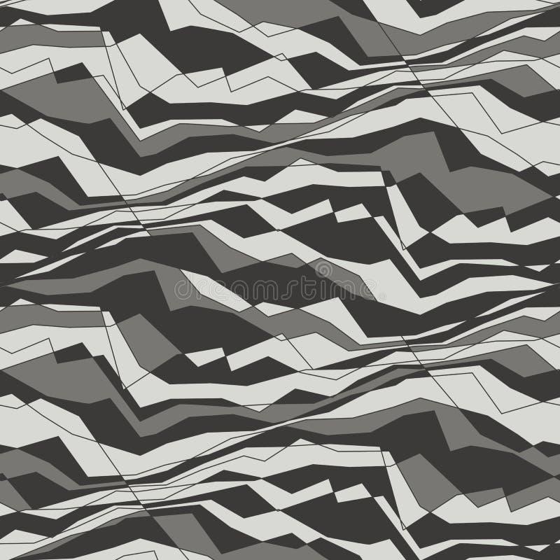 Abstrakt linie i fala bezszwowy wzór royalty ilustracja