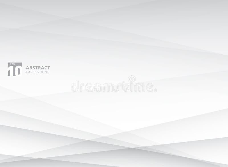 Abstrakt linie, okregów przecinający geometryczni biali i szarość, barwią z powrotem royalty ilustracja