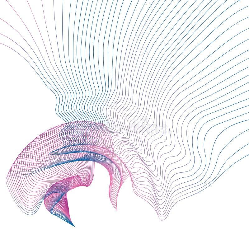Abstrakt linii fali tła wektoru gradientowa ilustracja royalty ilustracja