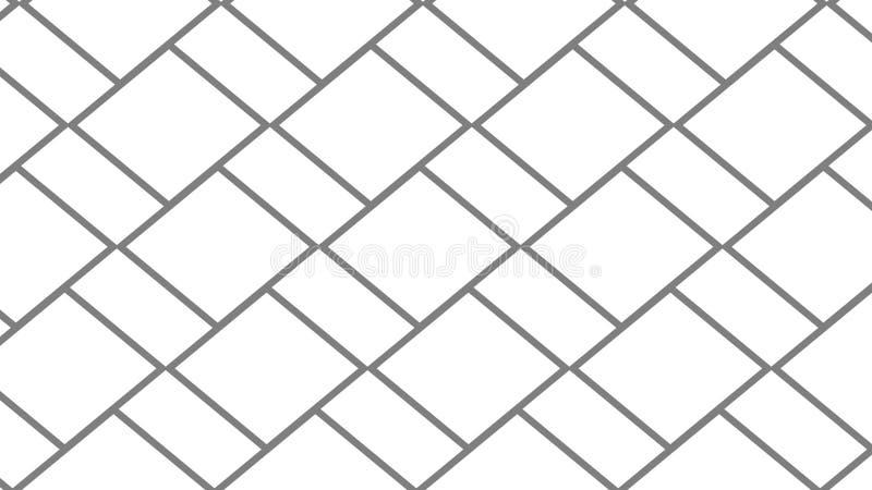 Abstrakt linii popielaty wzór na białym tle ilustracja wektor