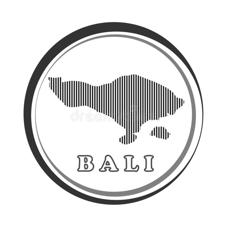 Abstrakt linje bakgrund med översikten av den Bali Indonesien vektorn i eps 10 royaltyfria bilder