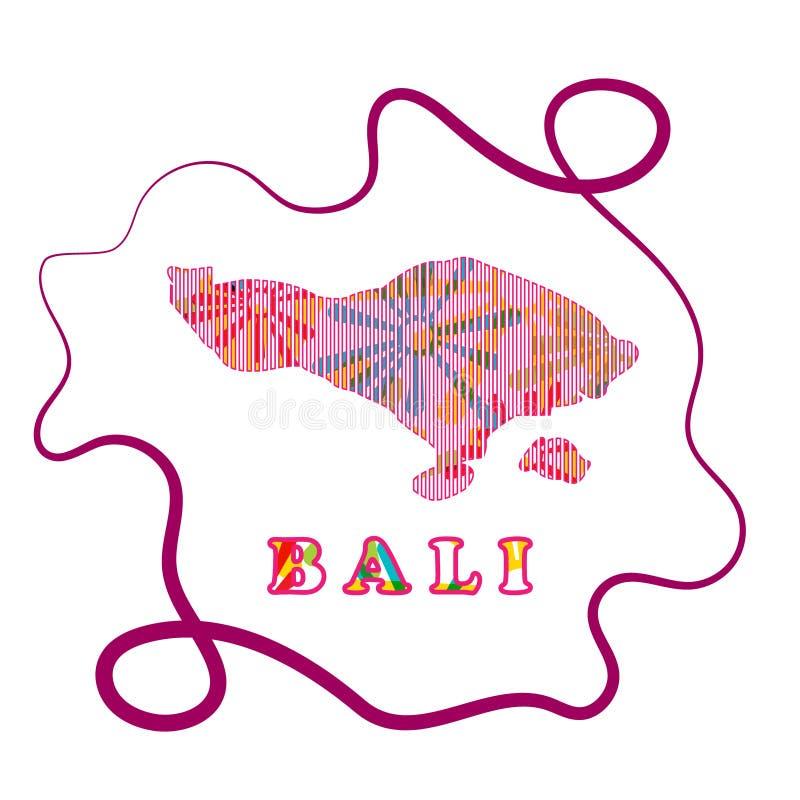 Abstrakt linje bakgrund med översikten av den Bali Indonesien vektorn i eps 10 arkivfoton