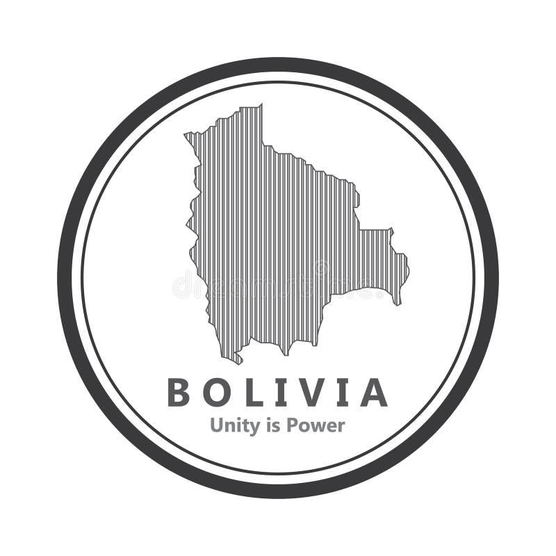 Abstrakt linje bakgrund med översikten av den Bolivia landsvektorn i eps 10 royaltyfri foto