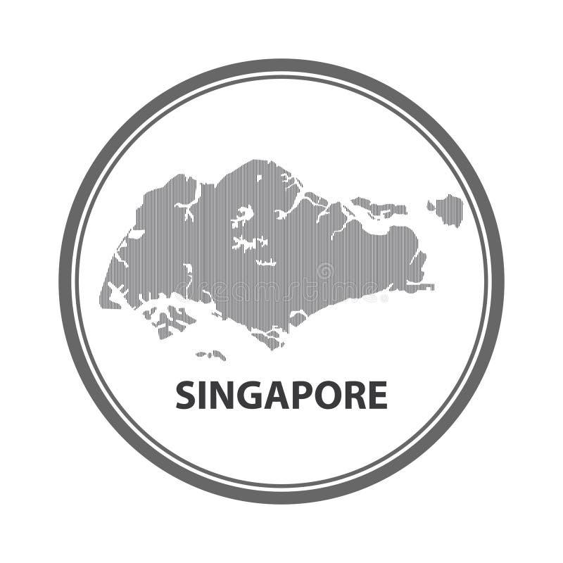 Abstrakt linje bakgrund med översikten av den Singapore vektorn i eps 10 royaltyfri bild