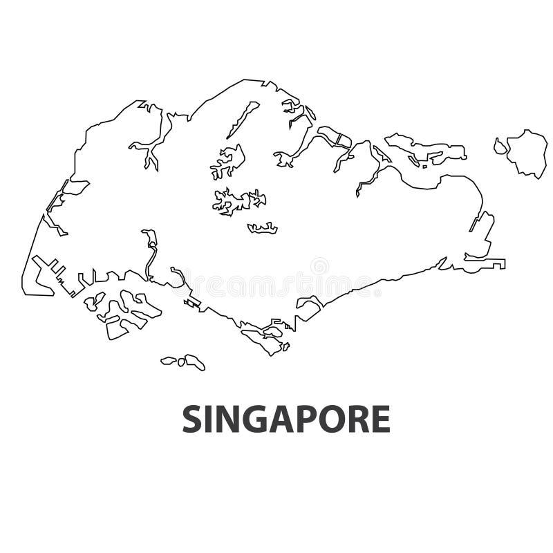 Abstrakt linje bakgrund med översikten av den Singapore vektorn i eps 10 arkivfoto