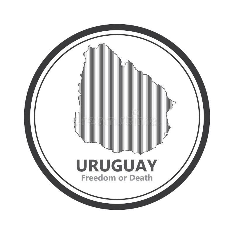 Abstrakt linje bakgrund med översikten av den Uruguay landsvektorn i eps 10 royaltyfri foto