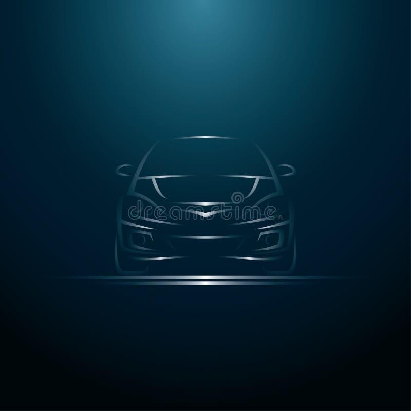 Abstrakt linje bil royaltyfri illustrationer