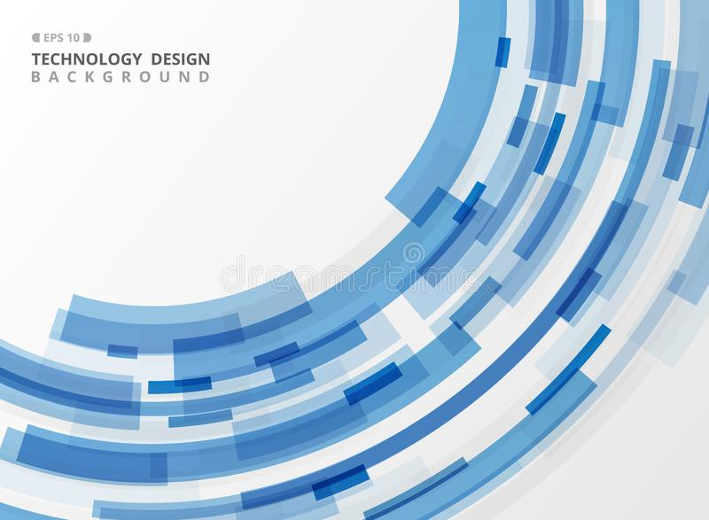 Abstrakt linje geometrisk bakgrund för blått band för teknologi royaltyfri illustrationer