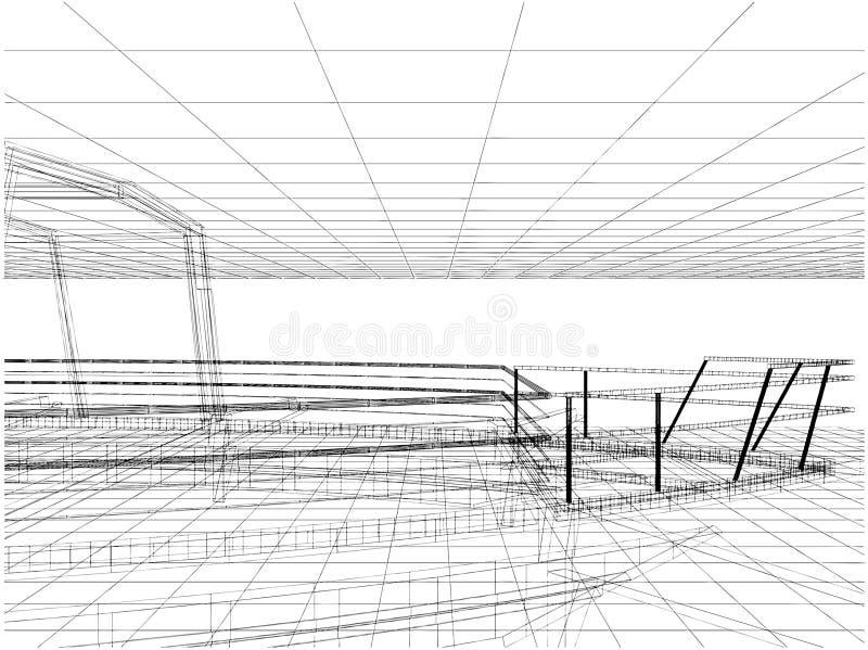abstrakt linje vektor för konstruktion 20 stock illustrationer