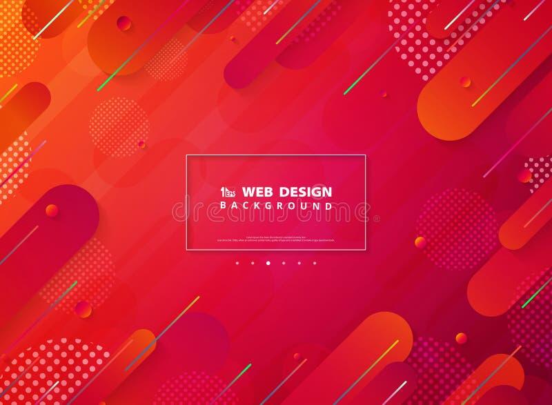 Abstrakt livlig färgbandlinje bakgrund för design för rengöringsduk för techlandningsida Illustrationvektor eps10 vektor illustrationer