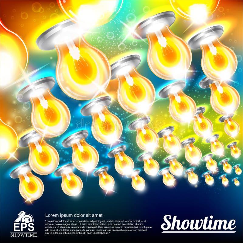 Abstrakt ljus bakgrund med mångfärgade kulor vektor illustrationer