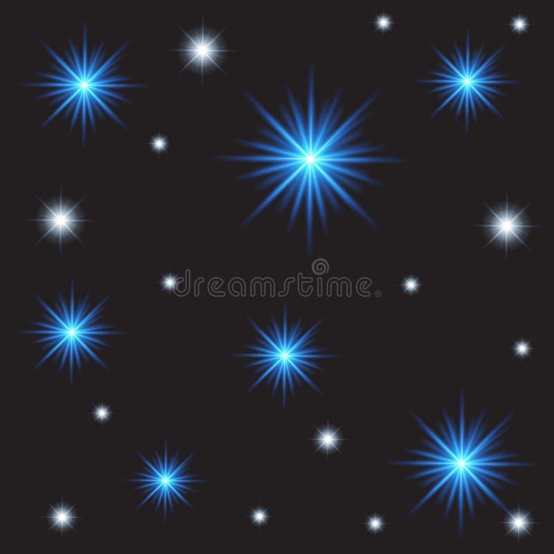 Abstrakt ljus bakgrund med stjärnor, nebulosan och galaxen stock illustrationer