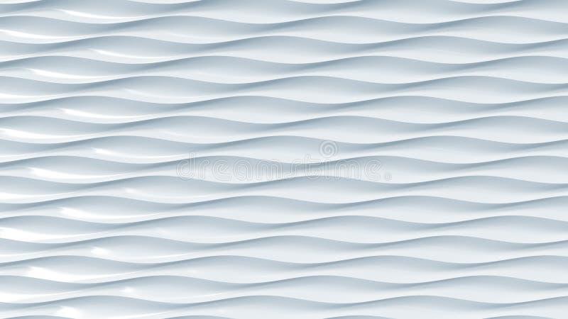 Abstrakt ljus - blåa plast-vågor framförande 3d vektor illustrationer