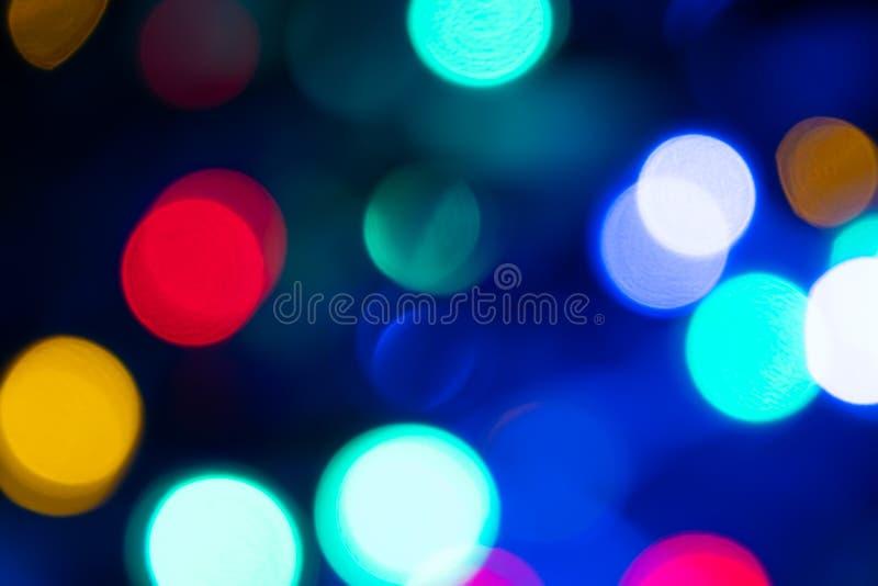 Abstrakt ljus Bokeh härlig bakgrund royaltyfri bild