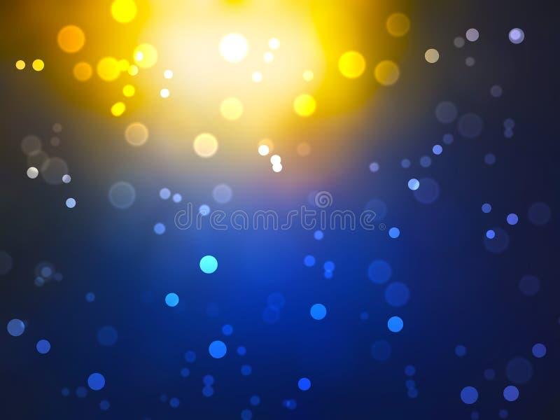 Abstrakt ljus bokehbakgrund, rund facula arkivbild