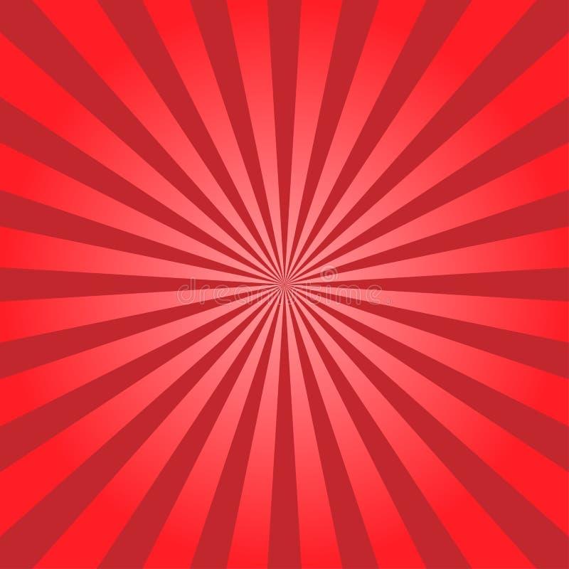Abstrakt ljus - den gula solen rays bakgrund för illustrationsköld för 10 eps vektor royaltyfri illustrationer