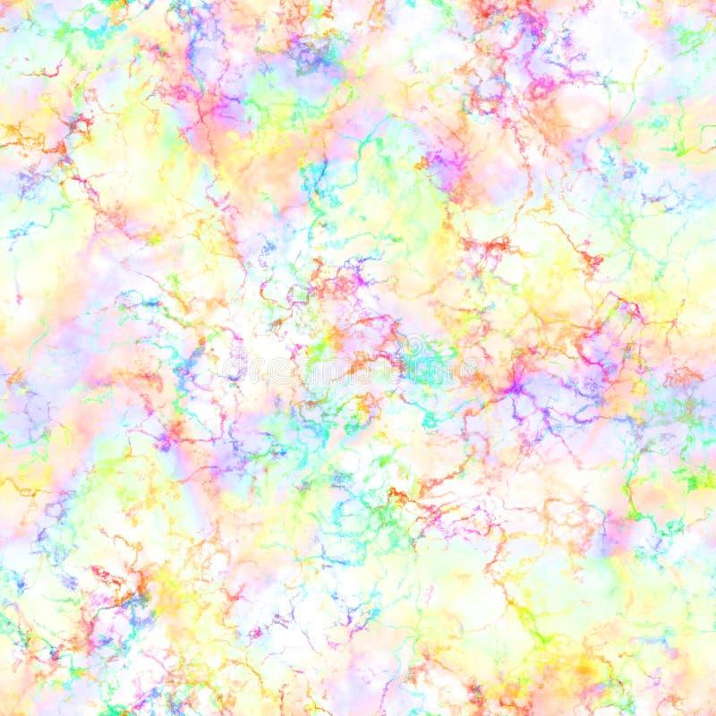 Abstrakt ljus färgrik rök på vit bakgrund Flerfärgade moln Molnig modell för regnbåge suddighetstextur seamless illustrationrep stock illustrationer