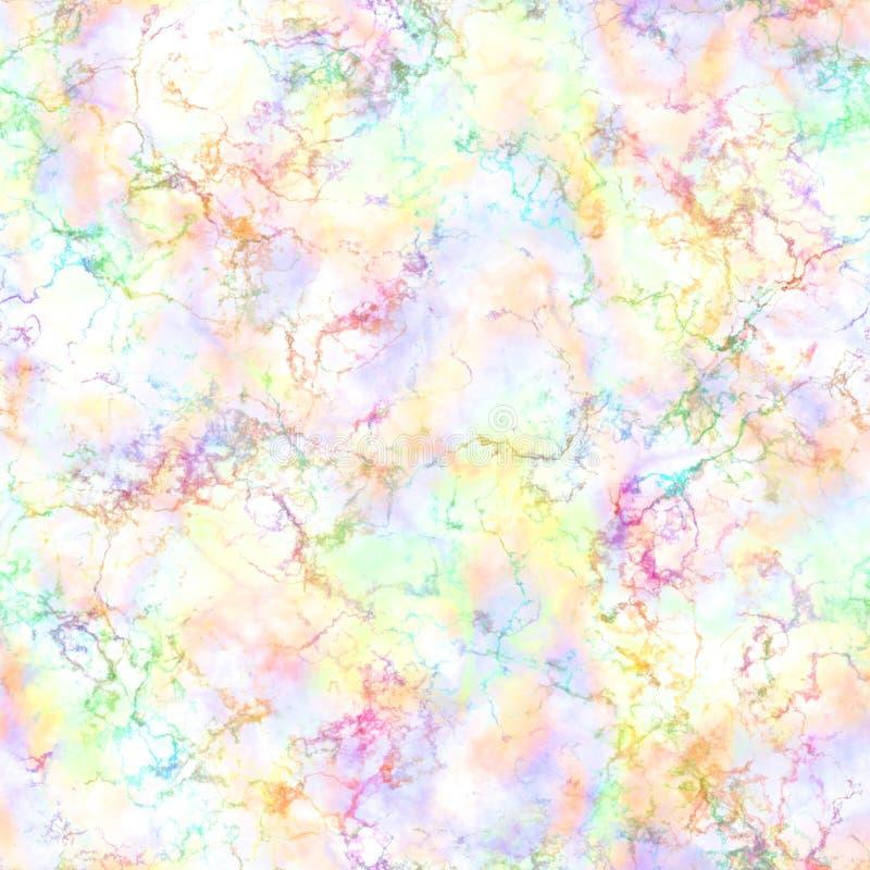 Abstrakt ljus färgrik rök på vit bakgrund, flerfärgade moln, suddighet, molnig modell för regnbåge, oskarp sömlös illustration vektor illustrationer