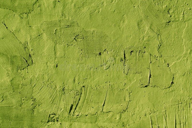 Abstrakt ljus - grön cementväggtextur arkivbilder