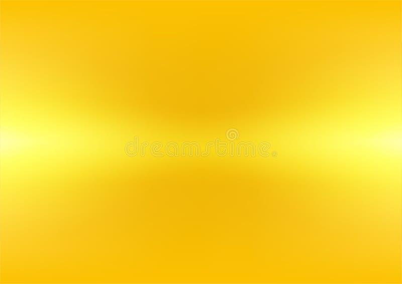 Abstrakt ljus gul guld- lutningbakgrund, vektorillustration stock illustrationer