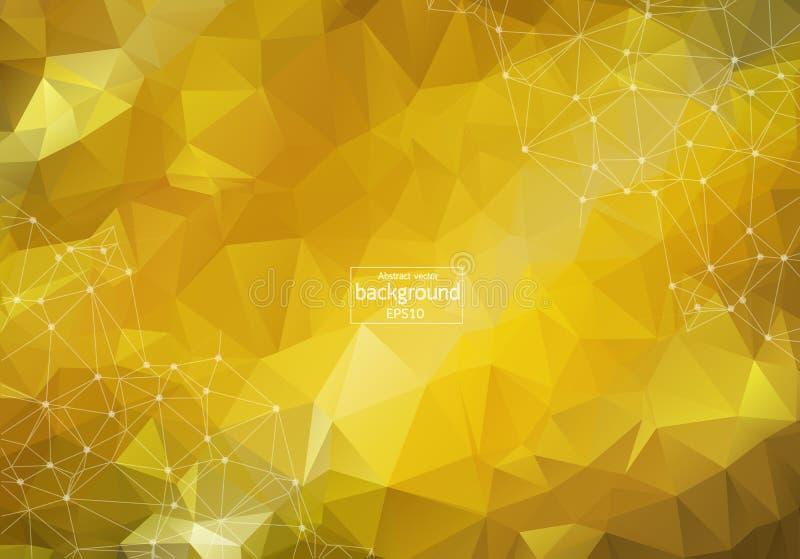 Abstrakt ljus låg poly techbakgrund teknologi- och innovationbegrepp royaltyfri illustrationer