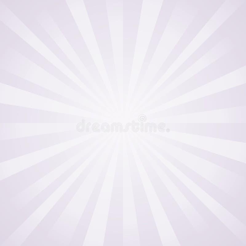 Abstrakt ljus lilagrå färg rays bakgrund vektor royaltyfri illustrationer