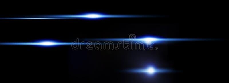 Abstrakt ljus på svart bakgrund, horisontellt arkivbild