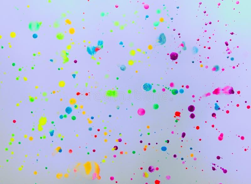 Abstrakt ljus prickig färgrik Hand-dragen vattenfärg Backgroun stock illustrationer