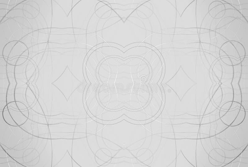 Abstrakt ljus skinande bakgrund Lysande bollar och metallized spiral Elegant bakgrundsillustration vektor illustrationer