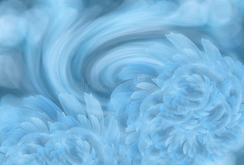 Abstrakt ljus turkosbakgrund med den ljusa vit-blått pionen blommar Lycklig mors dag! kortbegrepp arkivfoton