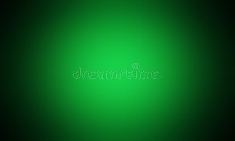 Abstrakt ljust - grön lutningbakgrund, ljus effekt, tapet, grön radiell lutning som är ljus royaltyfri illustrationer