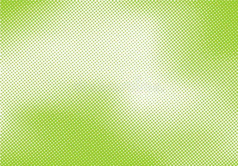 Abstrakt ljust - grön retro bakgrund för popkonst med rastrerad komisk stiltextur royaltyfri illustrationer