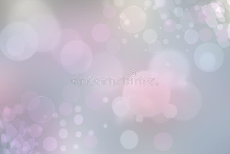 Abstrakt ljust - rosa pastellfärgad bokehbakgrundstextur med ljusa mjuka färgcirklar din avståndstext stock illustrationer