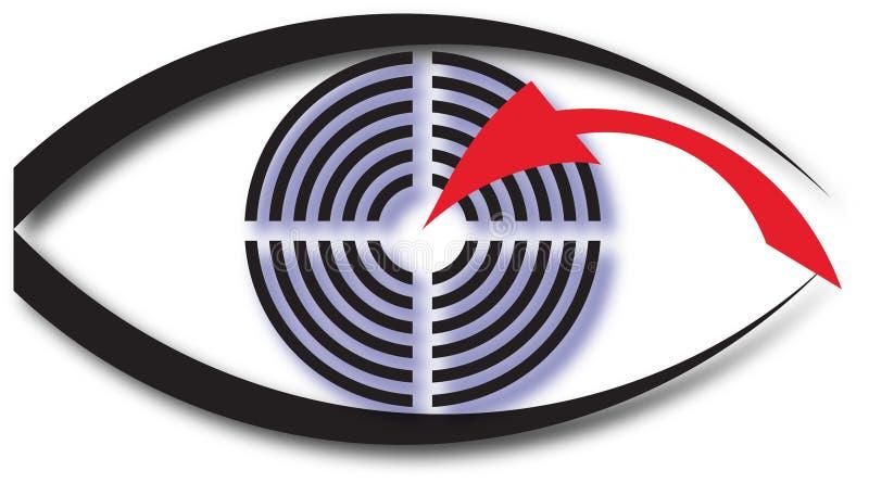 Abstrakt logo av ett öga arkivbild