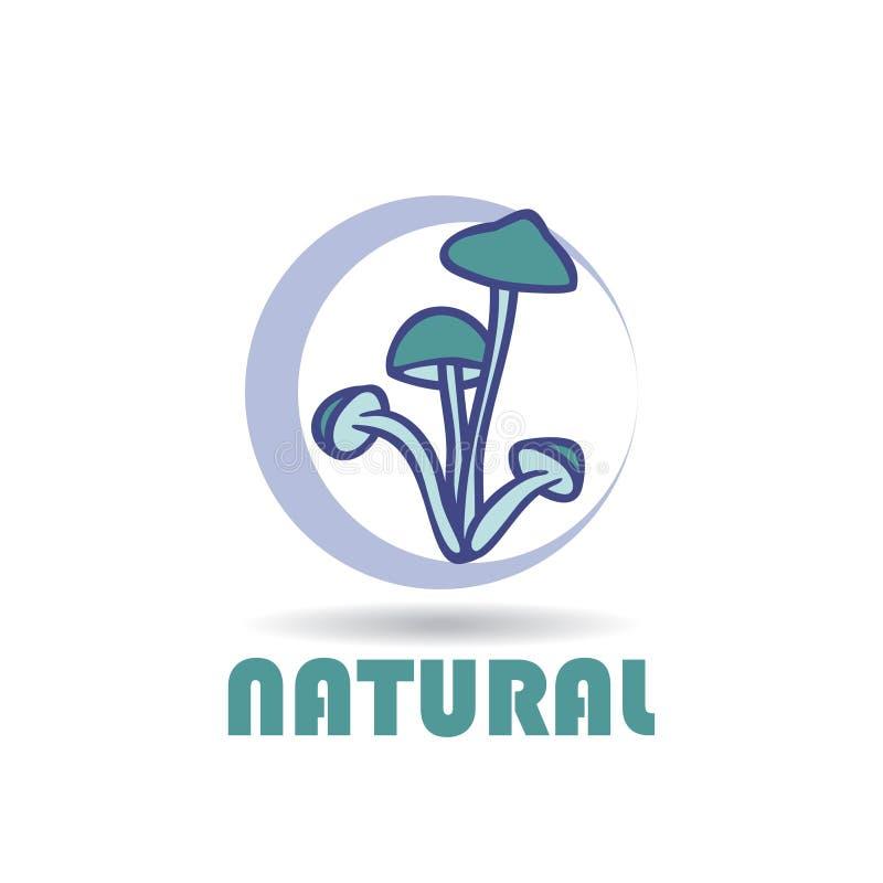Abstrakt logo för affärsföretag Champinjoner Färgvektorsymbol royaltyfri illustrationer