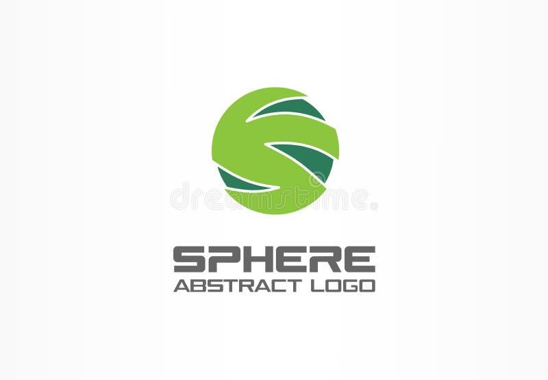 Abstrakt logo för affärsföretag Designbeståndsdel för företags identitet Teknologi nätverk, internet, fördelning, bank royaltyfri illustrationer