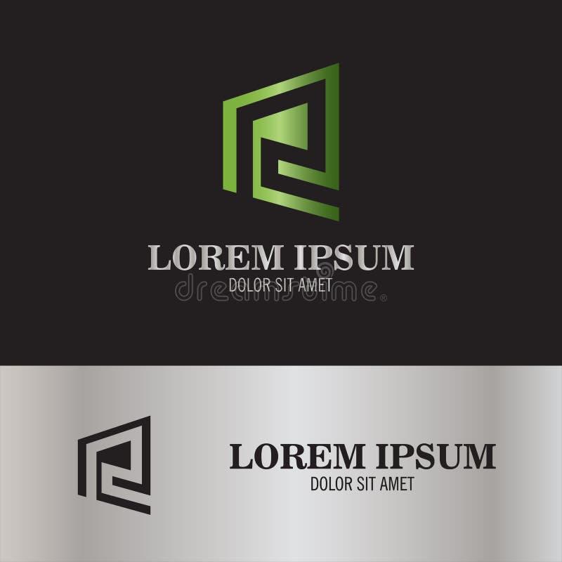 Abstrakt logo för bokstav E stock illustrationer