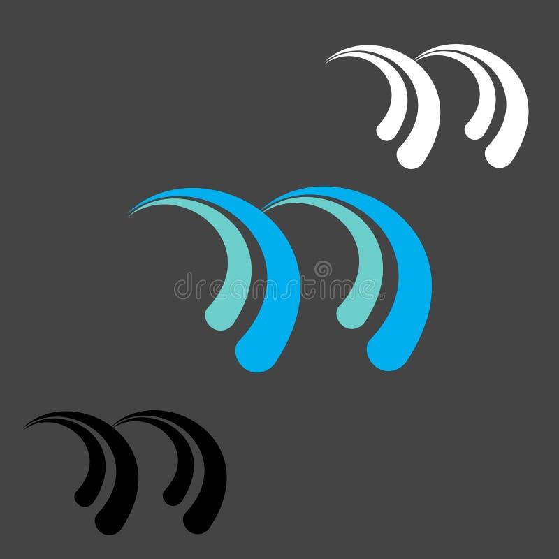Abstrakt logo för bokstav N royaltyfri illustrationer