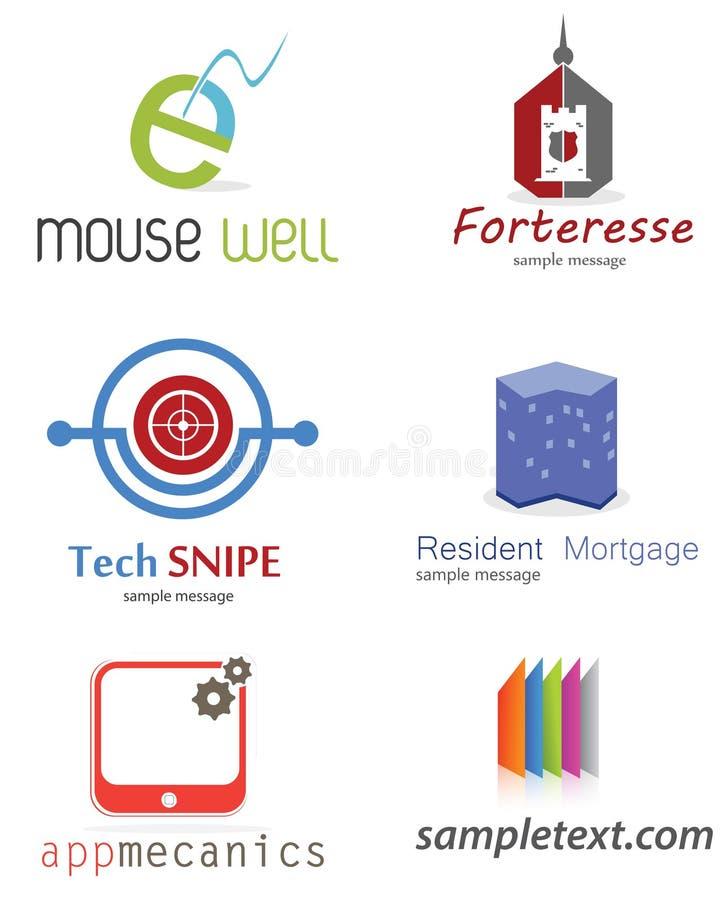 abstrakt logo för element för bakgrundsblackföretag vektor illustrationer