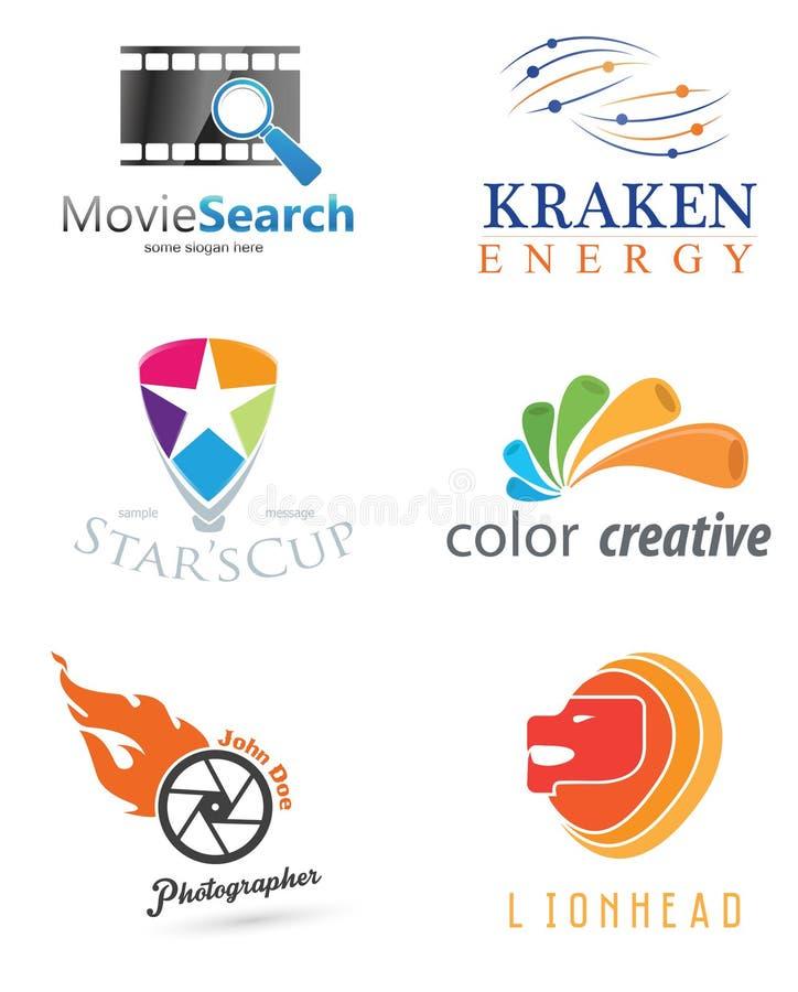 abstrakt logo för element för bakgrundsblackföretag royaltyfri illustrationer