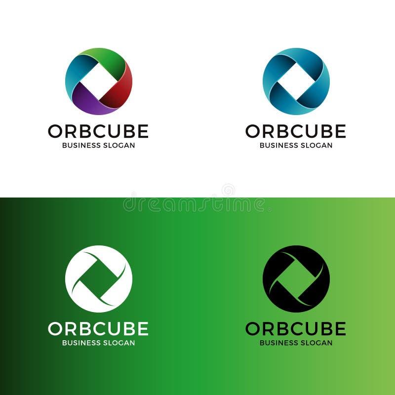 Abstrakt logo för färgcirkel vektor illustrationer